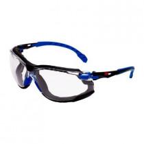SOLUS 1101 Kit Gafas negro/azul PC incolora, inserción de espuma, recubrimiento SCOTCHGARD. S1101SGAFKT-EU (20 gafas)