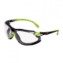 SOLUS 1201 Kit Gafas negro/verde PC incolora, inserción de espuma, recubrimiento SCOTCHGARD. S1201SGAFKT-EU (20 gafas)