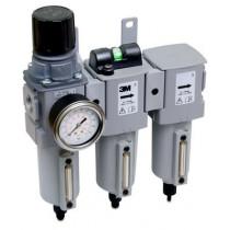 Unidad de filtración de aire comprimido para pared ACU03