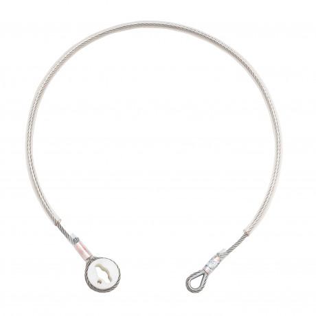 Cable de anclaje de Ø8 mm recubierto con protector plástico exterior para pértiga - EN 795 clase B (ref. AT191S)
