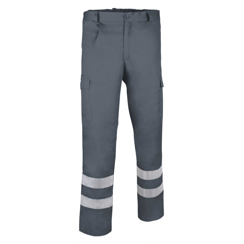 Pantalón largo multibolsillos con pinzas retroreflectante (ref. HOLE)