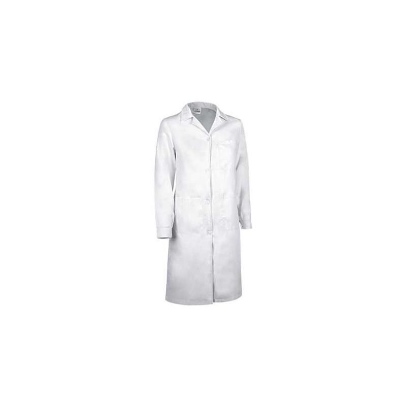 Bata mujer de manga larga 65% poliéster + 35% algodón (ref. STELA)