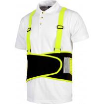 Faja protección lumbar con tirantes alta visibilidad (ref.PE013)