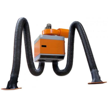 Aparato de aspiración fijo con dos brazos con filtro de alto rendimiento para humos de soldadura (ref. WSFS02)