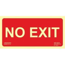 Señal No Exit Luminiscente 300 x 150 mm