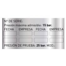Adhesivo de Extinción Plateado 70 x 35 mm (1008 unds)