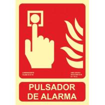 Señal Pulsador de Alarma Luminiscente (No Cumplen CTE)