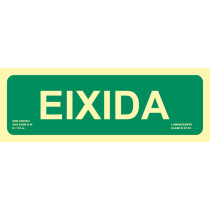 Señal Eixidia Luminiscente 300 x 105 mm