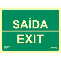 Señal Saída / Exit Luminiscente 300 x 224 mm
