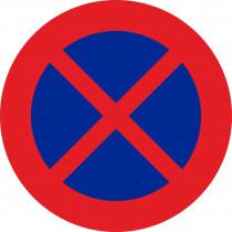 Señal Vial Metálica Parada Y Estacionamiento Prohibido Diámetro 500 mm