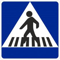 Señal Vial Metálica Situación de Un Paso de Peatones Diámetro 500 mm