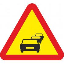 Señal Vial Metálica Congestión Lado 700 mm