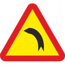 Señal Vial Metálica Curva Peligrosa Hacia La Izquierda Lado 700 mm