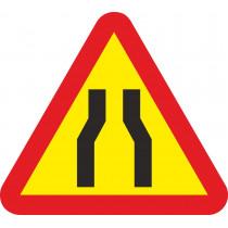 Señal Vial Metálica Estrechamiento de Calzada Lado 700 mm