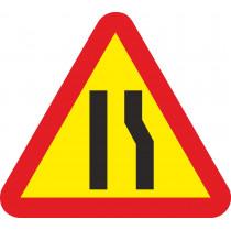 Señal Vial Metálica Estrechamiento de Calzada Por La Derecha Lado 700 mm