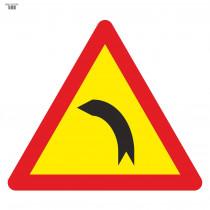 Señal Vial de Bolsa Curva Peligrosa Hacia La Izquierda 700 x 700 mm