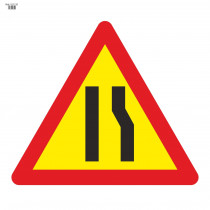 Señal Vial de Bolsa Estrechamiento de Calzada Por La Derecha 700 x 700 mm