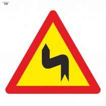Señal Vial de Bolsa Curvas Peligrosas Hacia La Izquierda 700 x 700 mm