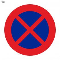 Señal Vial de Bolsa Parada Y Estacionamiento Prohibido 700 x 700 mm