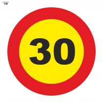 Señal Vial de Bolsa 30 Km/h Velocidad Máxima 700 x 700 mm