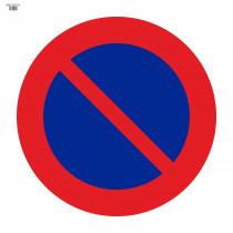 Señal Vial de Bolsa Estacionamiento Prohibido 700 x 700 mm