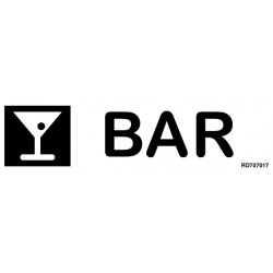 Informativa Bar Acero Inoxidable Adhesivo de 0'8mm 50 x 200 mm