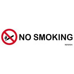 Informativa No Smoking Acero Inoxidable Adhesivo de 0'8mm 50 x 200 mm