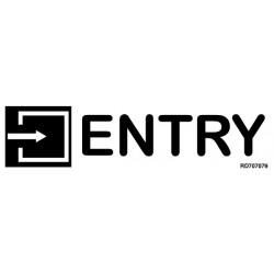 Informativa Entry Acero Inoxidable Adhesivo de 0'8mm 50 x 200 mm