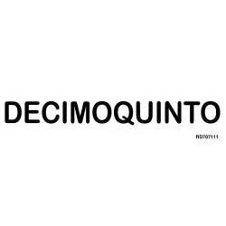 Informativa Decimoquinto Acero Inoxidable Adhesivo de 0'8mm 50 x 200 mm
