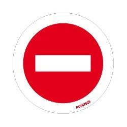 Informativa Redonda Prohibido Pasar Acero Inoxidable Adhesivo de 0'8mm Diámetro 70 mm