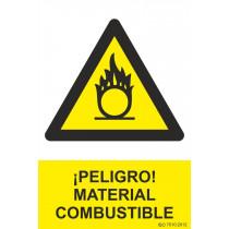 Señal ¡Peligro! Material Combustible Con Tintas UV