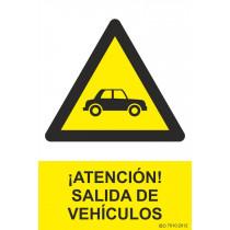 Señal ¡Atención! Salida de Vehículos Con Tintas UV