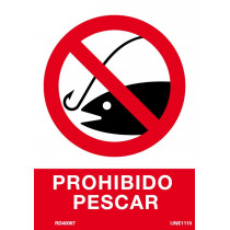Señal Prohibido Pescar Con Tintas UV