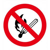 Señal Prohibido Encender Fuego Con Tintas UV Diámetro 90 mm (Pack de 10)