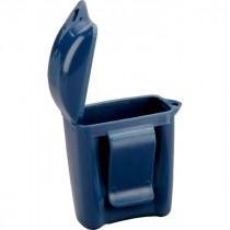 Cajita de plástico azul para guardar tapones BI003 (800 cajas)