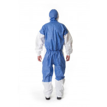Prenda de protección cómoda frente a polvo y salpicaduras leves, Blanco+Azul, tipo 5/6 4535 (20 Unds)