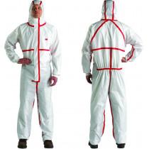 Prenda de protección extra y durabilidad, Blanco+Rojo, tipo 4/5/6 (20 Unds)