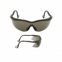 QX2000 Gafas montura negra PC gris DX patilla giratoria 04-1022-0245M (20 gafas)