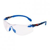 SOLUS 1101 Gafas negro/azul PC incolora, recubrimiento SCOTCHGARD. S1101SGAF-EU (20 gafas)