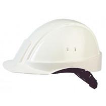 Casco blanco, sin ventilación, arnés estándar y banda de sudor piel para minas G2001 (20 cascos)