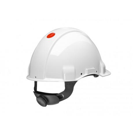 Casco, sin ventilación, DIELÉCTRICO 1000V, con arnés estándar y banda sudor piel G3001 (20 cascos)