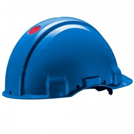 Casco, sin ventilación, DIELÉCTRICO 1000V, con arnés ruleta y banda sudor piel G3001 (20 cascos)