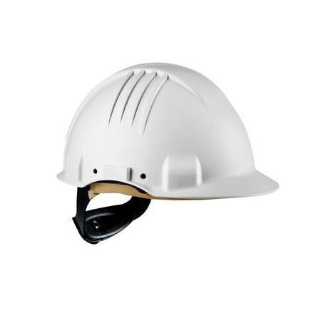 Casco alta temperatura, sin ventilación, arnés de ruleta, banda sudor piel. G3501M (20 cascos)