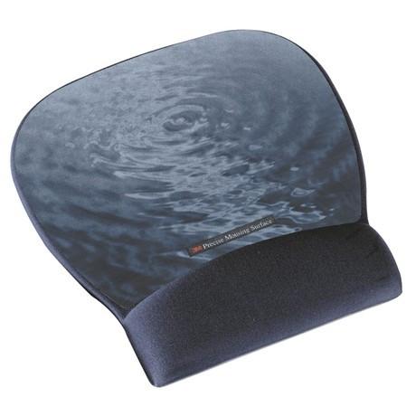 Reposamuñecas para ratón color azul con superficie de precisión. Motivo Agua. 70071080751 (6 reposamuñecas)