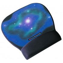 Reposamuñecas ratón negro con superficie de precisión Motivo Galaxia
