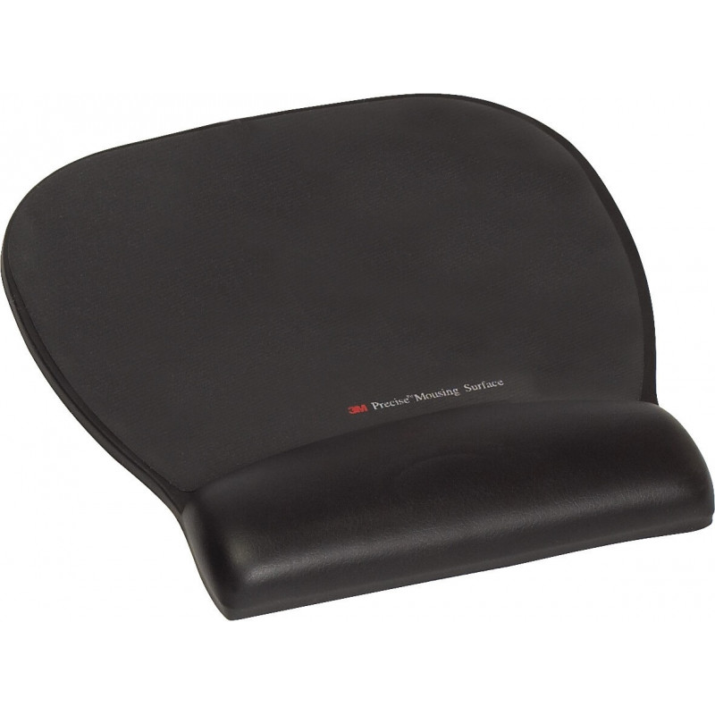 Reposamuñecas en piel negra para ratón con superficie de precisión negra FT510112343 (6 reposamuñecas)
