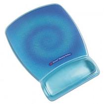 Reposamuñecas para ratón color fluorescente azul con superficie de precisión 70071080785 (6 reposamuñecas)