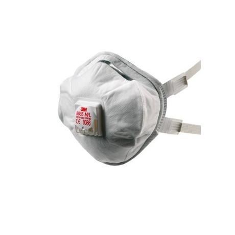 Mascarilla híbrida reutilizable FFP3 R D c/válvula 8835+ (50 mascarillas)