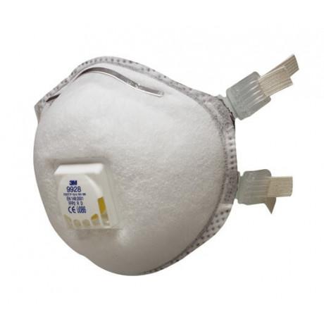 Mascarilla FFP2 R D c/válvula, junta de sellado, facial para soldadura y ozono 9928 (80 mascarillas)