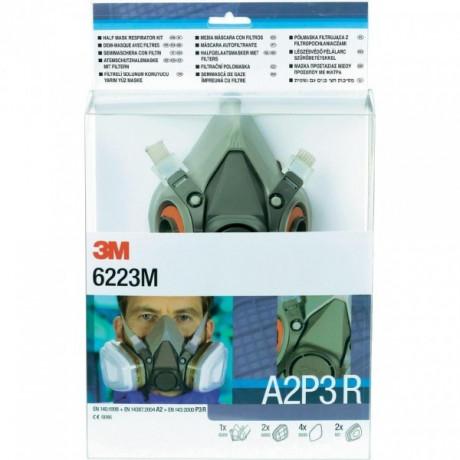 """Kits """"Listos para usar"""" Media máscara y filtro Pack 6200 A2P3 R (6055 A2 + 5935 P3R) - 4 kits"""